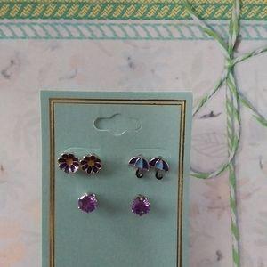 Daisies/Umbrellas Earrings Set